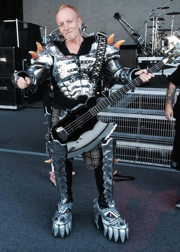 gene simmons costume. whatever else happens on def leppard\u0027s summer tour with kiss, we can at least be sure that lep guitarist phil collen is having fun. gene simmons costume