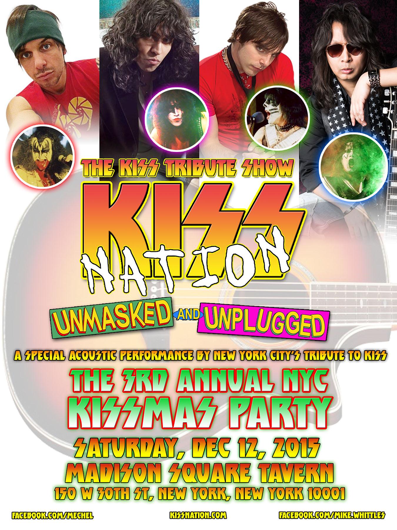 KISS tribute band KISS Nation throw a KISSmas party in NYC