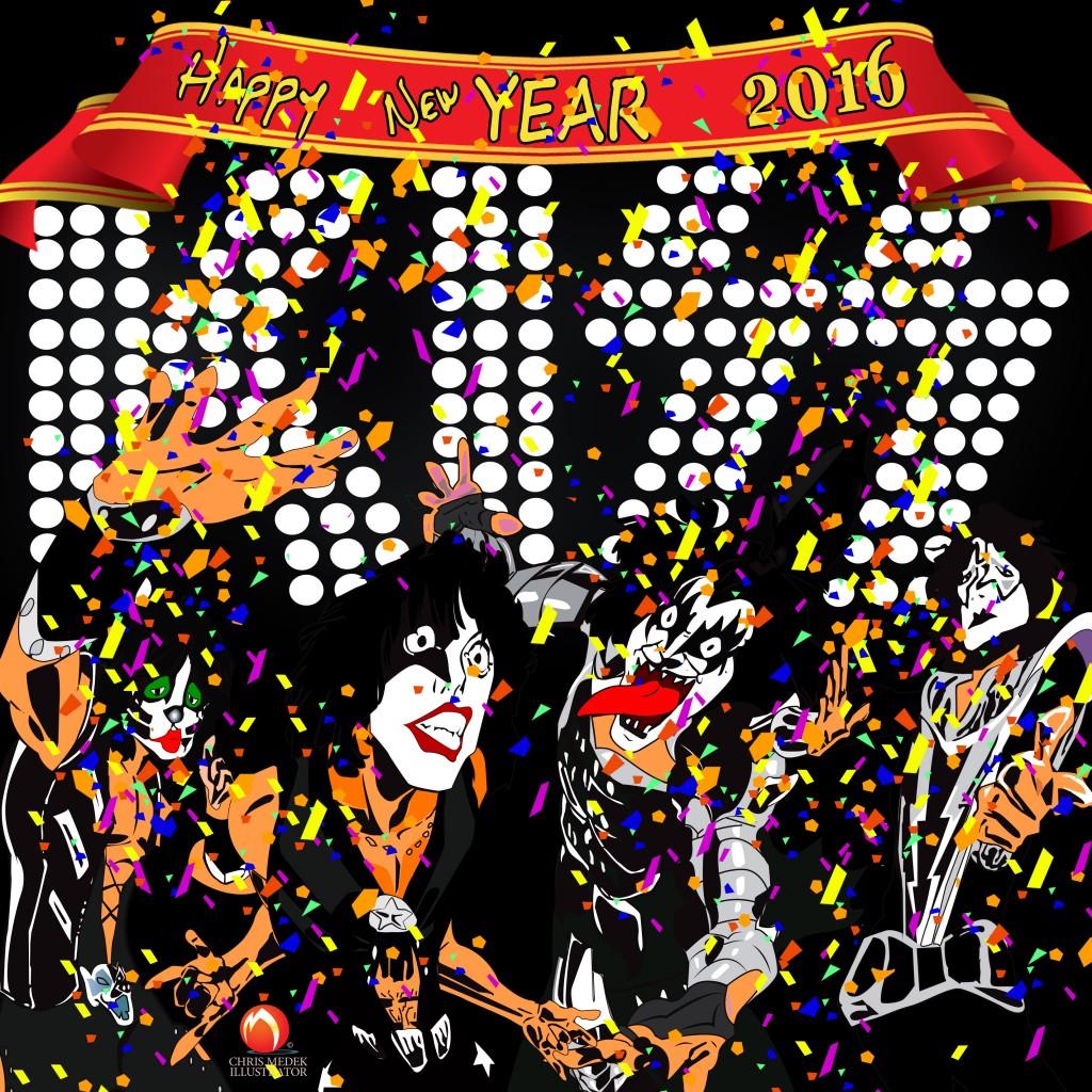 KISS 2016New Year anime